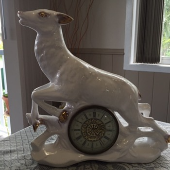 Jema Holland (Very Large) Deer Mantle Clock numbered )474) - Clocks