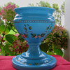 Victorian Blue Glass Vase