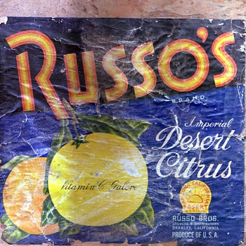 RUSSO'S crate label - Paper