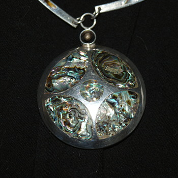 Unusual Large Silver Necklace  - Fine Jewelry