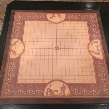 Original Deluxe Wooden/Linen Pente Set signed by Gabrel