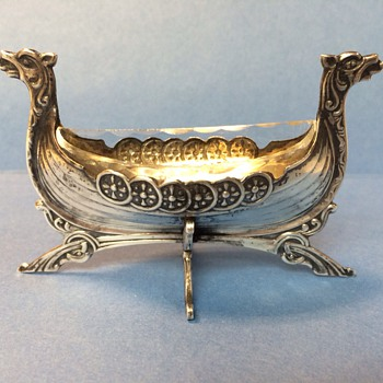 Silver Viking ship