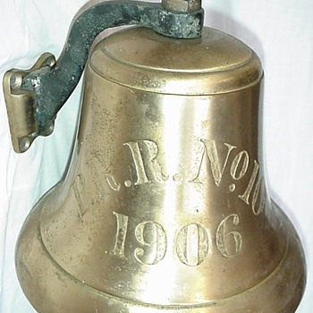 "Pennsylvania Railroad Tugboat ""Altoona"" Brass Ships Bell ""PRR No. 10 1906"" - Railroadiana"