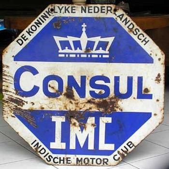 INDISCHE MOTOR CLUB Porcelain Sign - Advertising