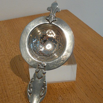  CHRISTIAN F HEISE SILVER STRAINER 1929.