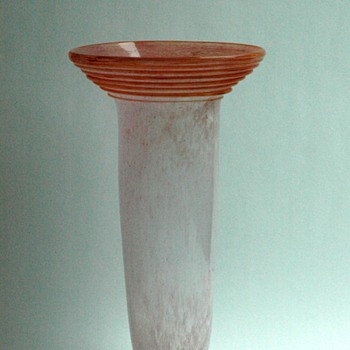 french art deco glass vase, probably by SCHNEIDER