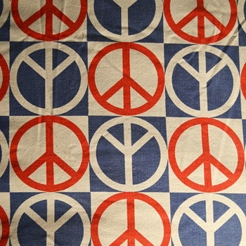 Peace symbol bed spread