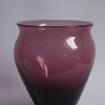Whitefriars Amethyst Vase - Art Glass