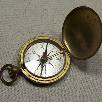 brass compass - Military and Wartime