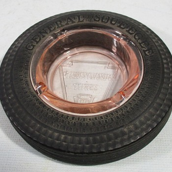 Pennsylvania Tire Ashtray  - Advertising