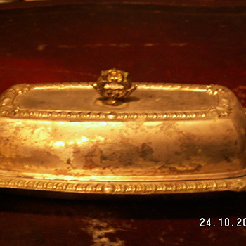 Antique Butter Tray (Silver Plated) - Kitchen