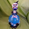 Blue and black clown decanter