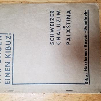 1930s Israel Kibbutz founding manuscript? - Books