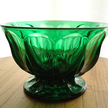 Green compote bowl - Glassware
