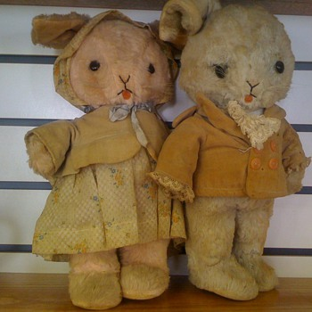 Antique Stuffed Bunnies - Animals