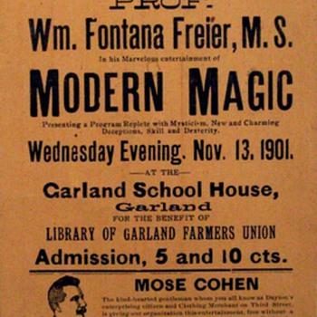 """Original 1901 """"Professor Fontana Freier"""" Boradside"""