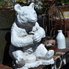 Old Cement Garden Statue of a Bear