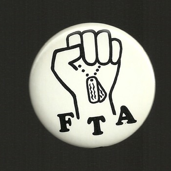 Vietnam FTA pinback button - Medals Pins and Badges