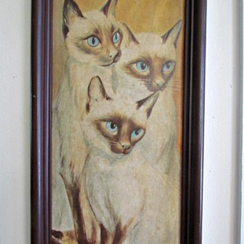 RF Harnett Big Eyed Cat Print - Animals