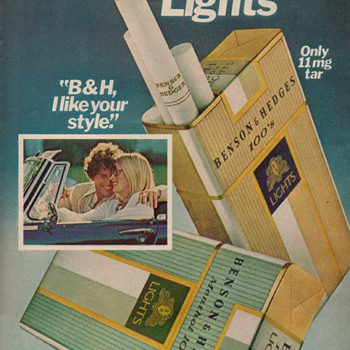 1979 - Benson & Hedges Cigarettes Advertisement