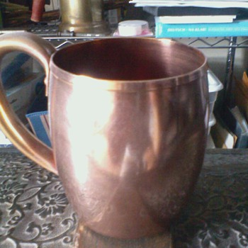 Antique West Bend Copper Beer Mug 1930's