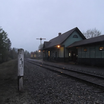 Bangor and Aroostook Railroad station in Oakfield Me. - Railroadiana
