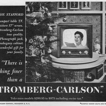 1951 - Stromberg Carlson Television Advertisement