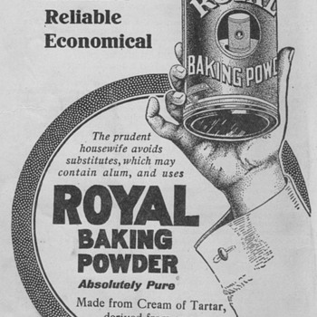 1921 - Baking Powder Advertisement - Advertising