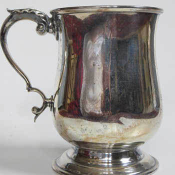 Barker Brothers Silver Plate Trophy Tankard, J.V.R., The ROSS CUP,1917~No.1Platoon~F.E.Becker?