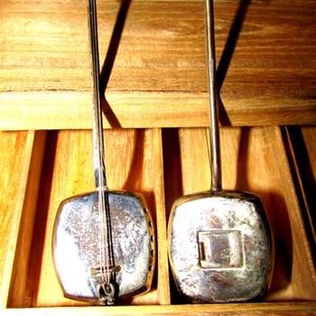 Sterling Silver Miniature Shamisen - Sterling Silver
