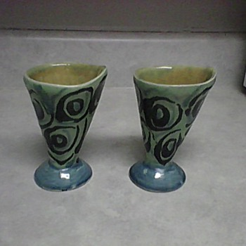 REDWARE POTTERY CUPS - Art Pottery