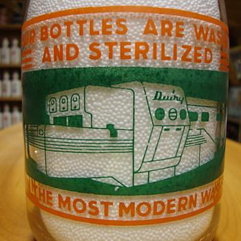 Miller Dairy..Cambridge City Indiana 2 Color Creamtop.......