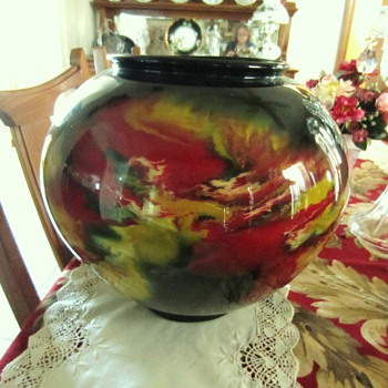 Chineese Vase...Old or Newer?  Signed but can not translate.