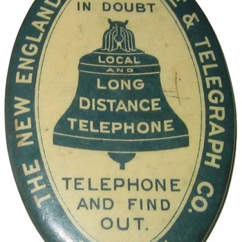 New England Telephone Advertising Mirror - Advertising