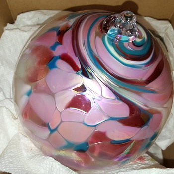 glass ornament orb - Christmas