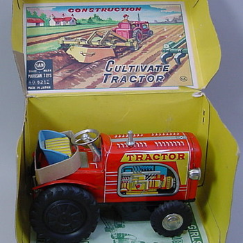 Tractor Construction Cultivator Set  - Model Cars