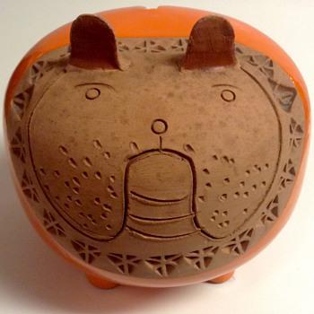 Rare Bitossi Raymor Ceramic Bulldog Italy by Aldo Londi
