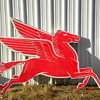 Mobil Pegasus Original Right Facing sign
