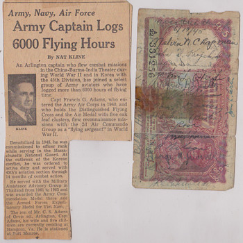 My Dad's 6,000 Fying hours - Military and Wartime