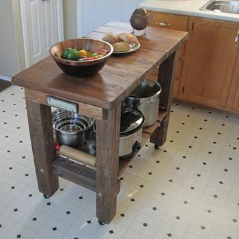Rustic Kitchen Island - Furniture