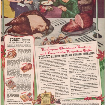 1950 Forsts Meat Advertisement - Advertising