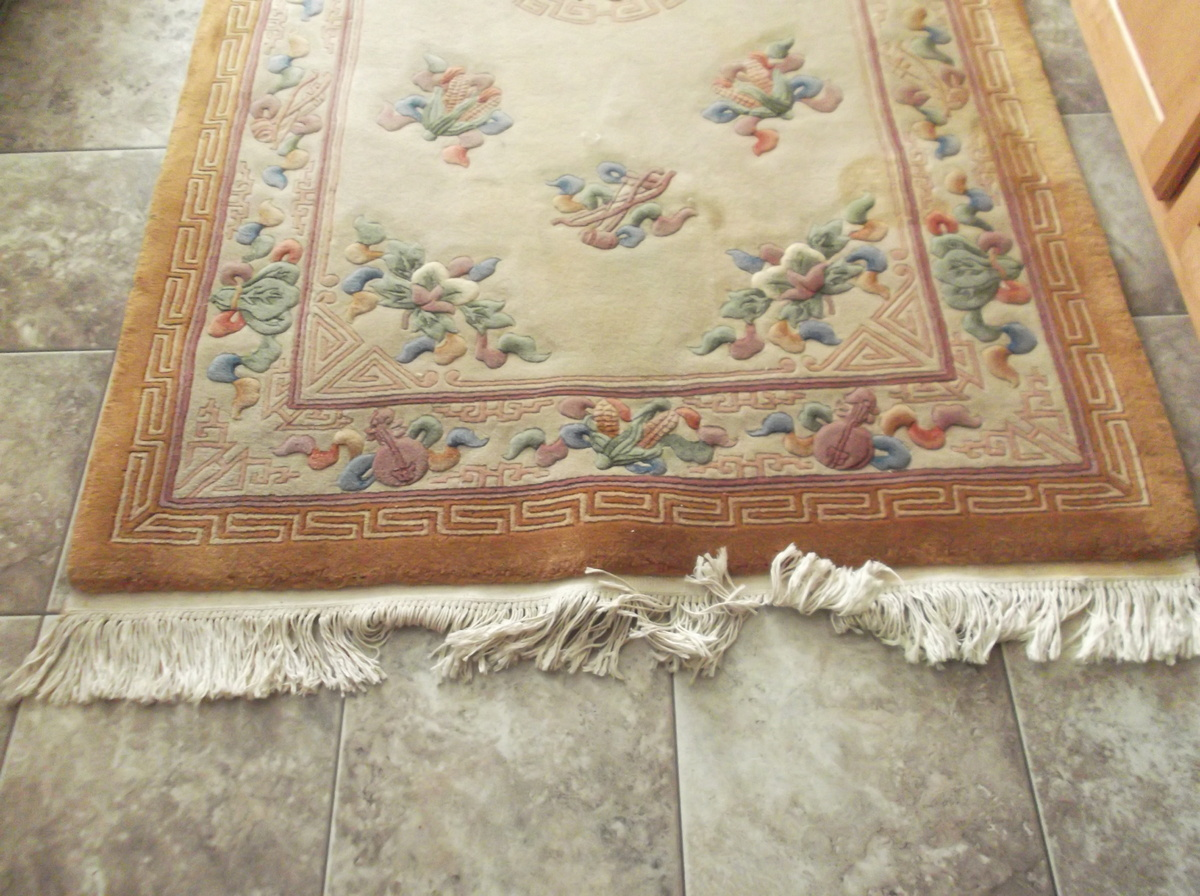 Vintage Chinese Aubusson Wool Rug Collectors Weekly