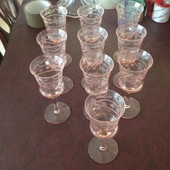 Pink glasseware