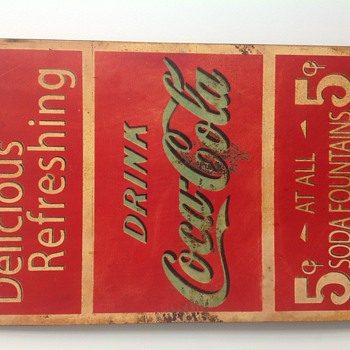 Coca cola tin sign 1950's apparently