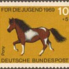 "1969 - W. Germany - ""Horses"" Postage Stamp Series"