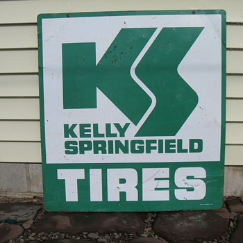 KELLY SPRINGFIELD TIRES SIGN 1969 - Advertising
