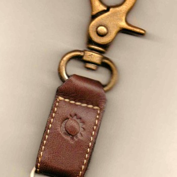 Leather & Brass Beltloop Keychain