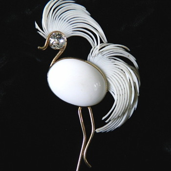 Vintage Napier (bird of paradise?) - Costume Jewelry