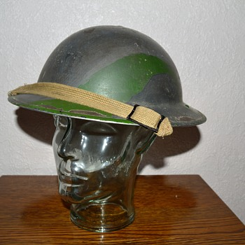 British WWII Cammo steel helmet. - Military and Wartime