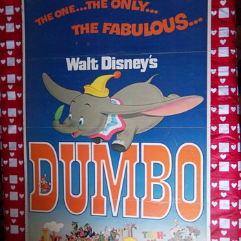 1972 Disney&#039;s Dumbo Movie Poster